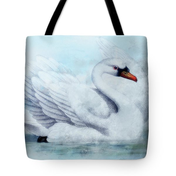 Ice Swan  Tote Bag