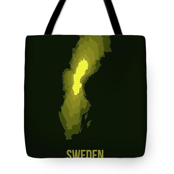 Sweden Radiant Map IIi Tote Bag
