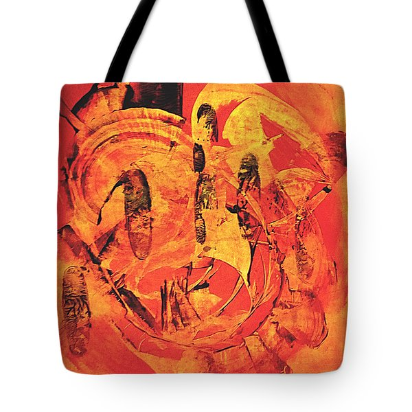 Tote Bag featuring the painting Sweep by 'REA' Gallery