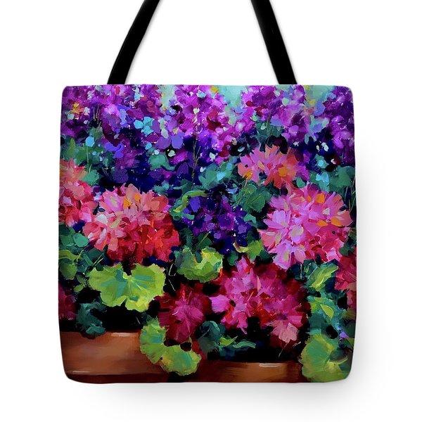 Sweet Dreams Geranium Garden Tote Bag