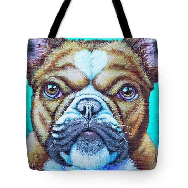 Sweet Heart Bulldog Tote Bag