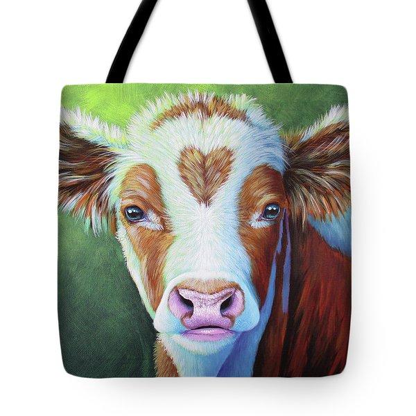 Sweet Heart Calf Tote Bag