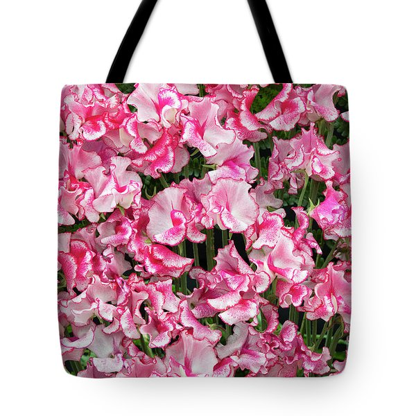 Tote Bag featuring the photograph Sweet Pea Linda Flowers by Tim Gainey