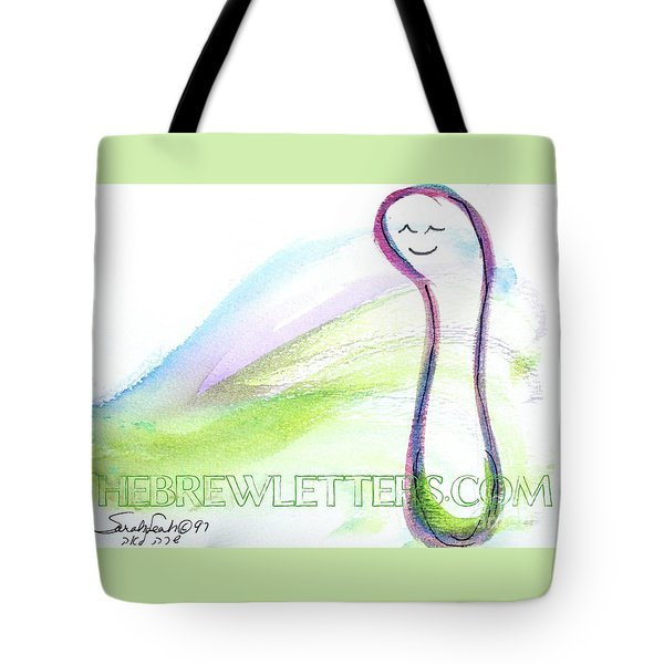 Tote Bag featuring the painting Sweet Vav V3 by Hebrewletters Sl
