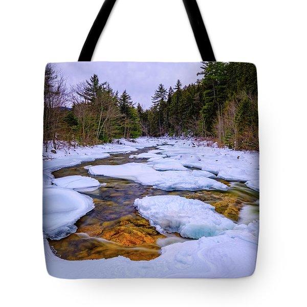 Swift River Winter  Tote Bag