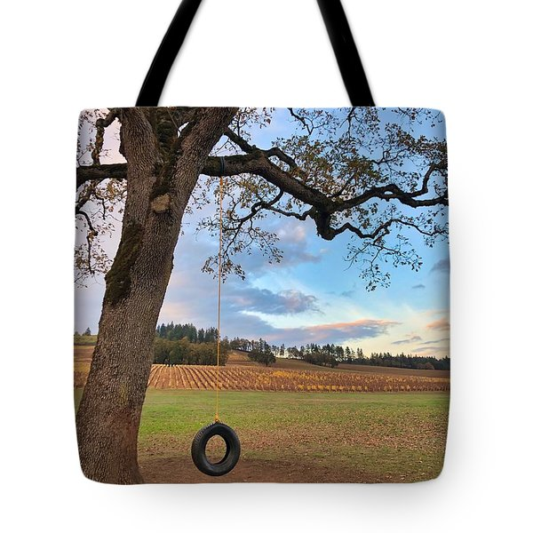 Swing In Tree Tote Bag