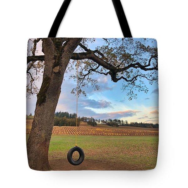 Swing In Tree Tote Bag