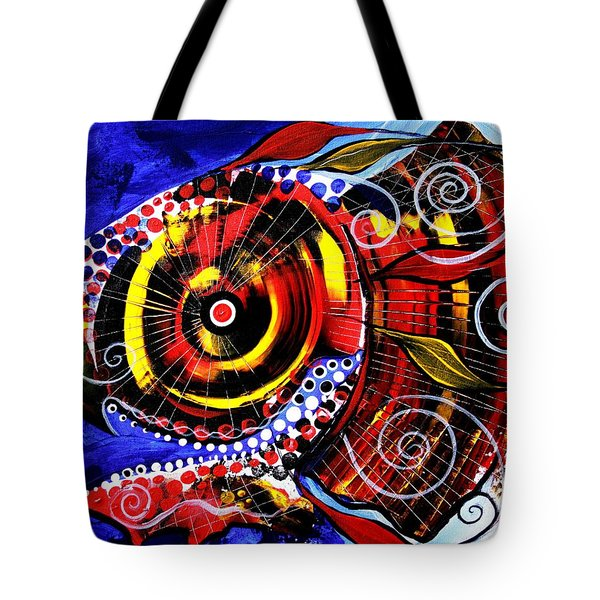 Swollen, Red Cavity Fish Tote Bag
