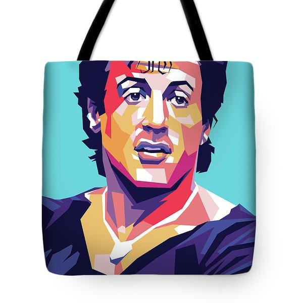 Sylvester Stallone Tote Bag