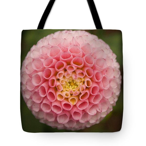 Symmetrical Dahlia Tote Bag