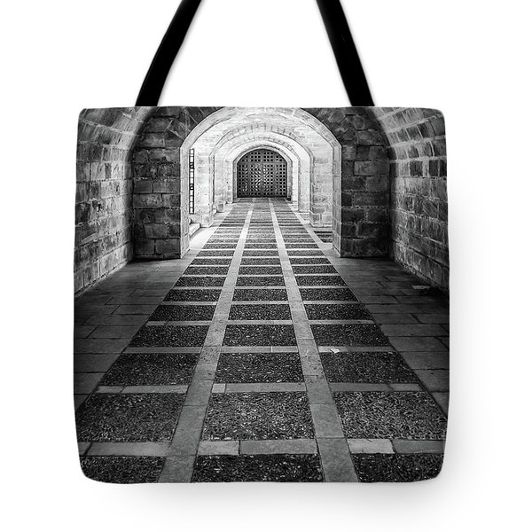 Symmetry In Black And White Tote Bag