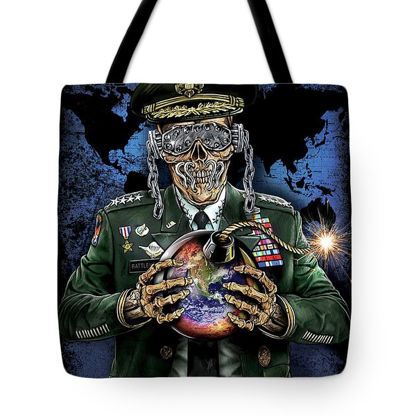 Symphony Of Destruction World Map Tote Bag