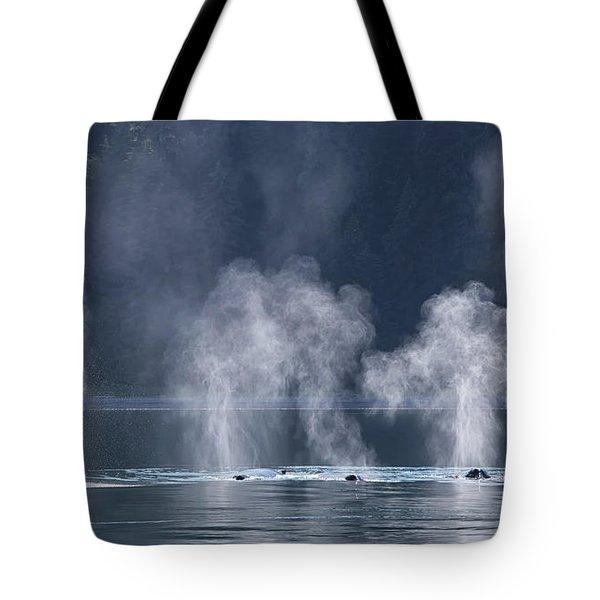 Synchronized Swimming Humpback Whales Alaska Tote Bag