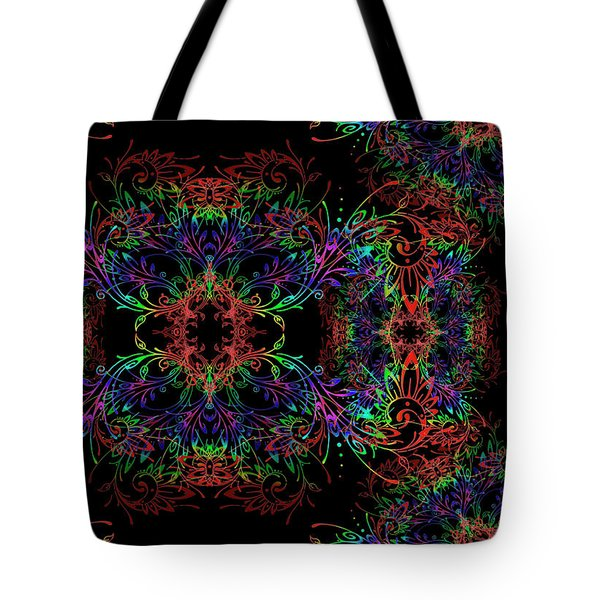Tote Bag featuring the digital art Synthetics by Vitaly Mishurovsky