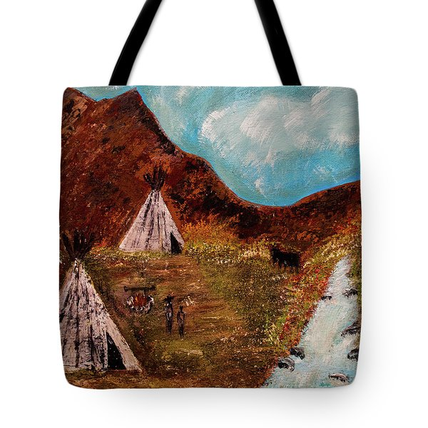 Tote Bag featuring the painting T- Pee by Randy Sylvia