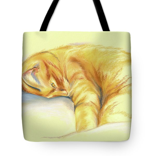 Tabby Cat Relaxed Pose Tote Bag
