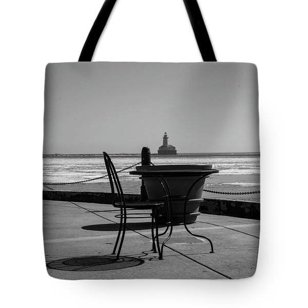 Table For One Bw Tote Bag