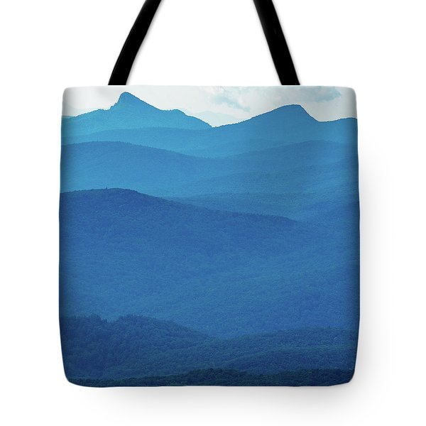 Table Rock And Hawksbill  Mountain - Linville North Carolina - Blue Ridge Parkway Tote Bag
