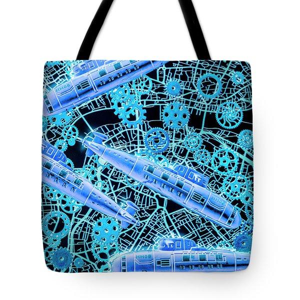 Tactical Subs Blueprint Tote Bag