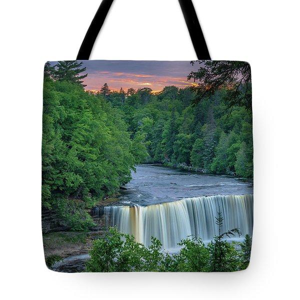 Tahquamenon Falls Sunset. Tote Bag
