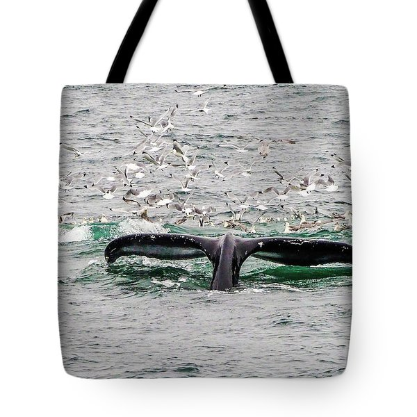 Tote Bag featuring the photograph Tail Of A Whale by Marla Craven