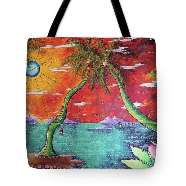 Take Me To The Tropics Tropical Surrealism Mad Wonderland By Megan Duncanson Tote Bag