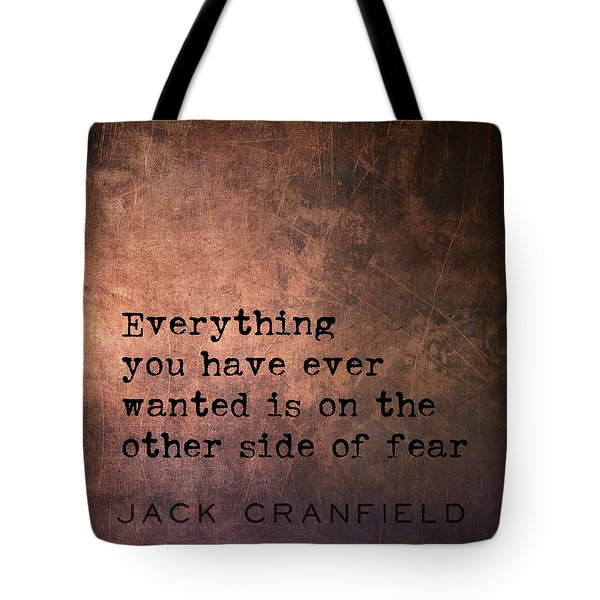 Take The Leap Quote Tote Bag