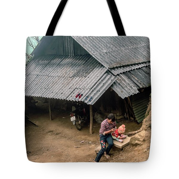 Taking Care Of Baby In Sapa, Vietnam Tote Bag