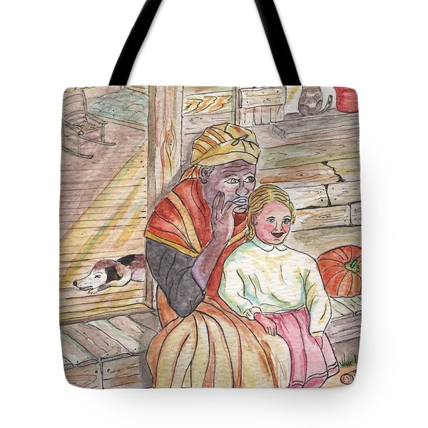 Taking Care Of The Owners Little Daughter Tote Bag