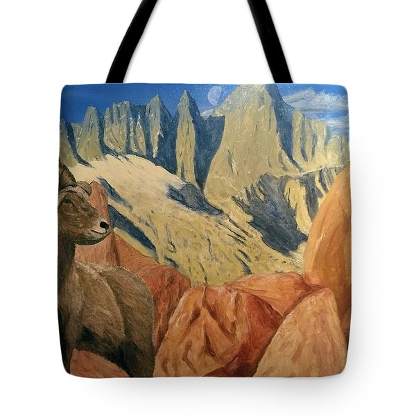 Tote Bag featuring the painting Taking In The Morning by Kevin Daly