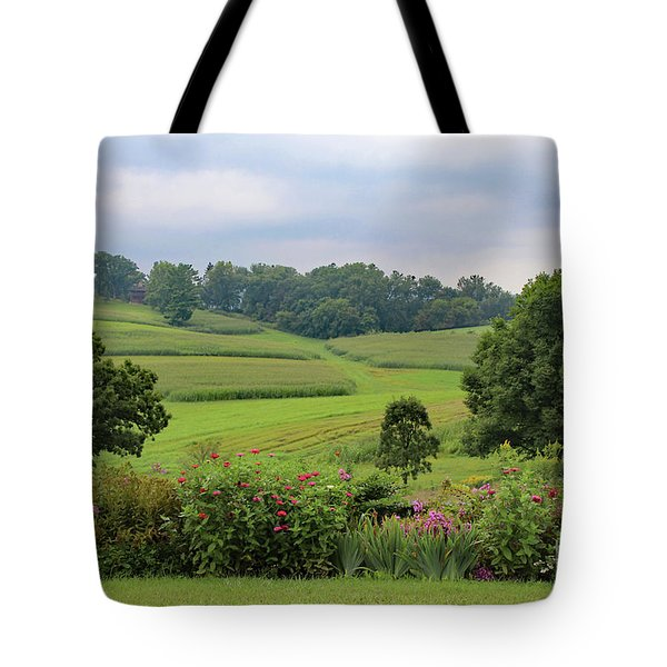Tote Bag featuring the photograph Taliesin Landscape by PJ Boylan