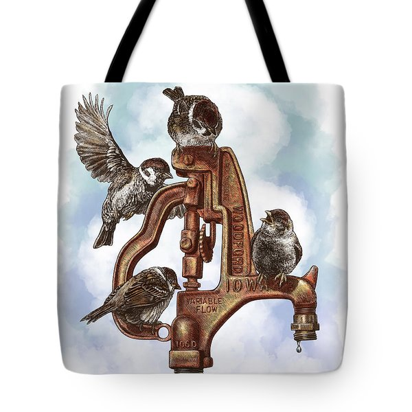 Talk Around The Watercooler Tote Bag