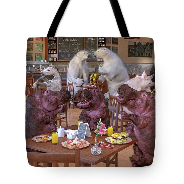 Talk Of The Town Coffee Shop Tote Bag