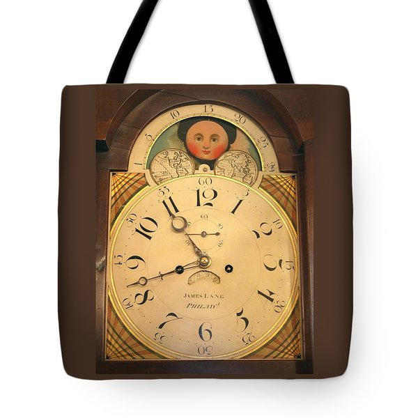 Tall Case Clock Face, Around 1816 Tote Bag