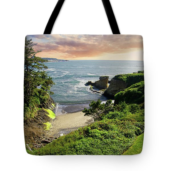Tall Conifer Above Protected Small Cov Tote Bag