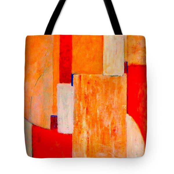 Tangerines Abstract Tote Bag