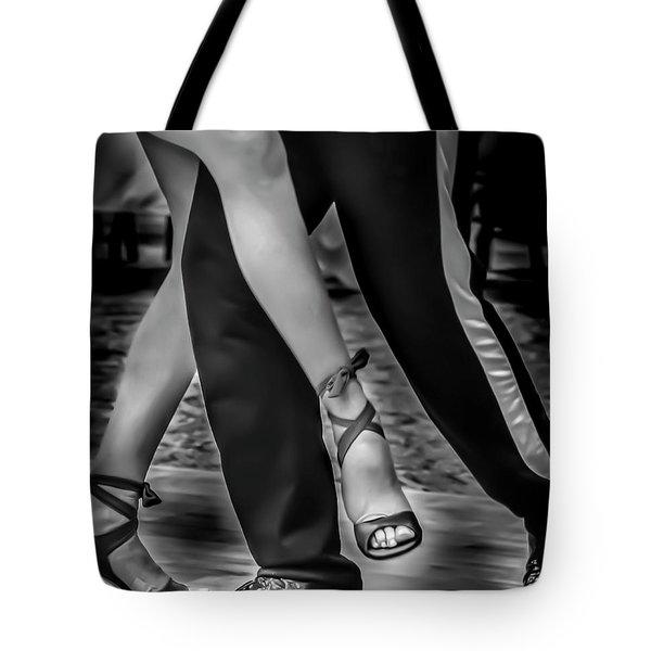 Tango Of Feet Tote Bag