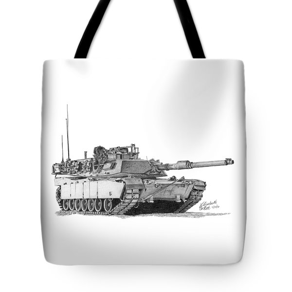 Tote Bag featuring the painting Tank by Betsy Hackett