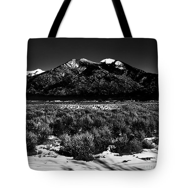 Taos Mountain In The Zone Tote Bag