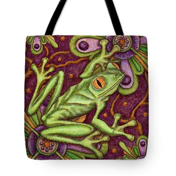 Tapestry Frog Tote Bag