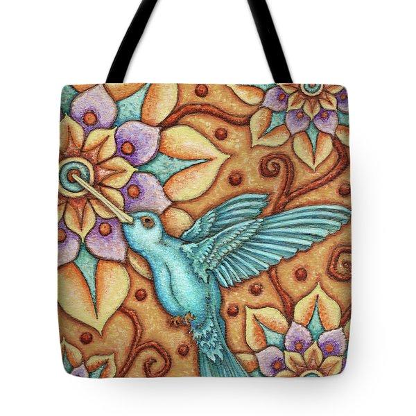 Tapestry Hummingbird Tote Bag