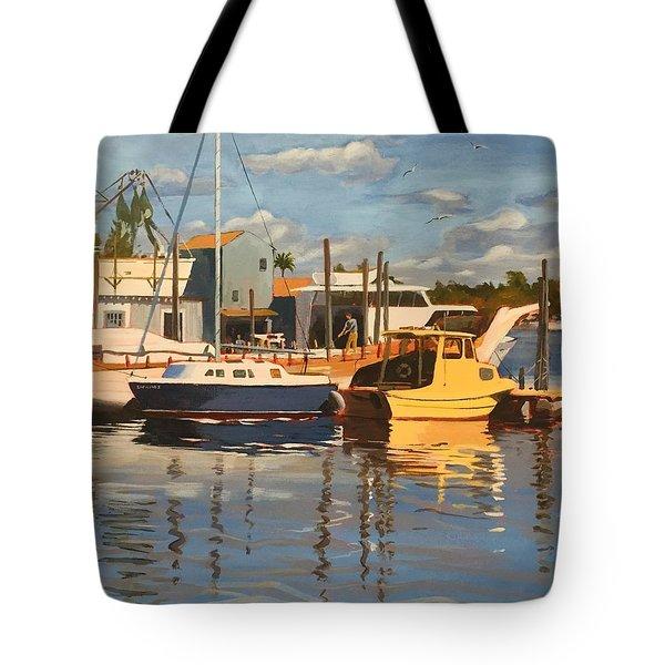 Tarpon Springs Harbour Tote Bag