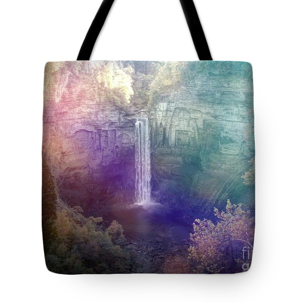 Taughannock Falls Dreamy Day Effect Tote Bag