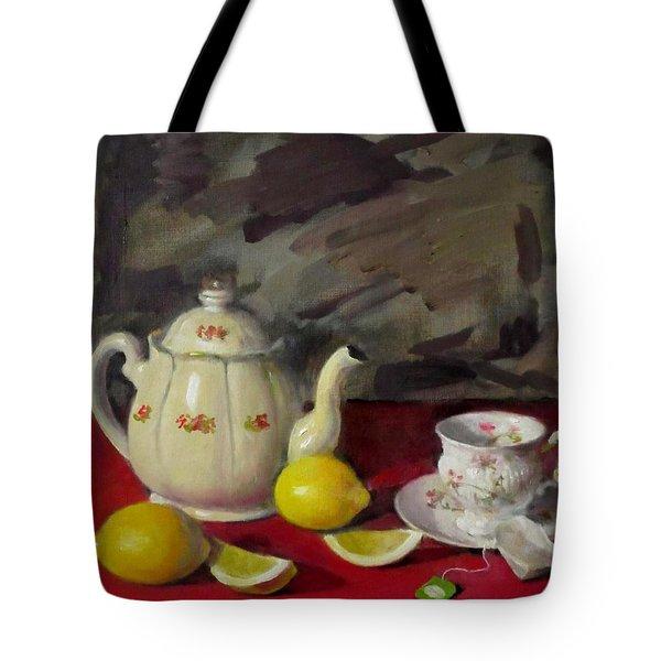 Tea Before The Storm Tote Bag