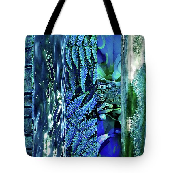 Teal Abstract Tote Bag