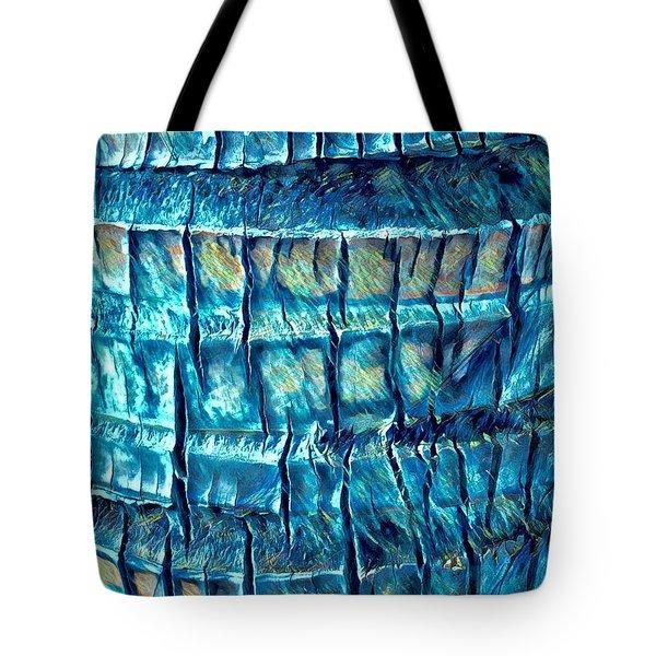 Teal Palm Bark Tote Bag