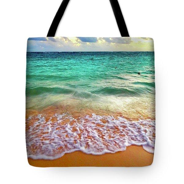 Teal Shore  Tote Bag
