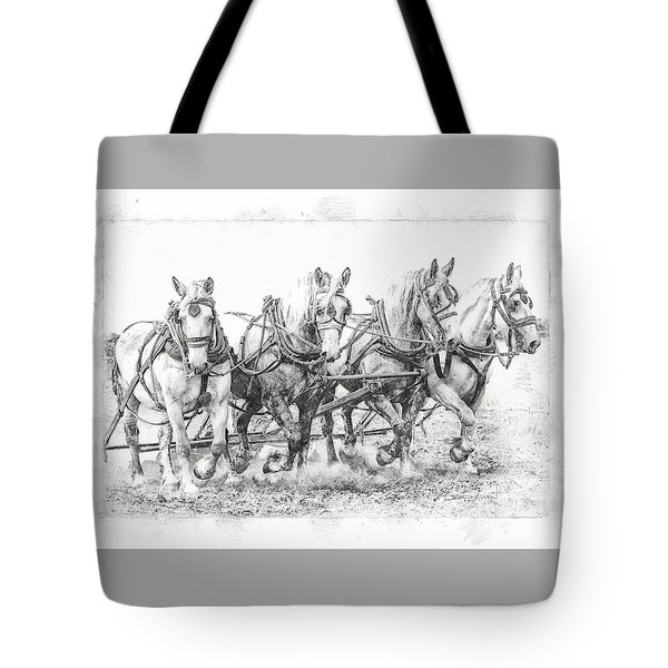Tote Bag featuring the photograph Team Work 2 by Brad Allen Fine Art