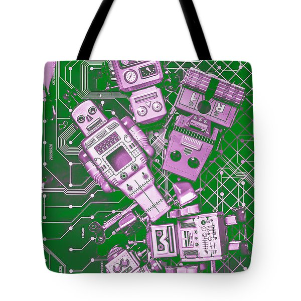Tech Borg Centre Tote Bag