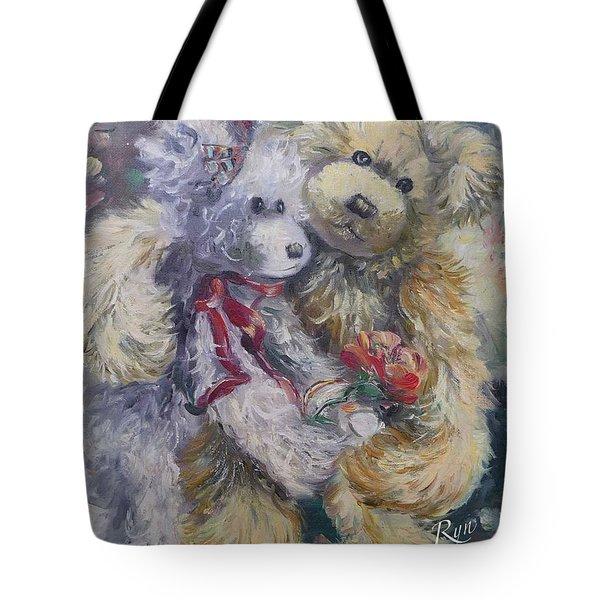 Teddy Bear Honeymooon Tote Bag